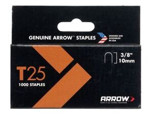 Arrow T25 Staples 10mm (3/8in) Box 1000 5054877590411