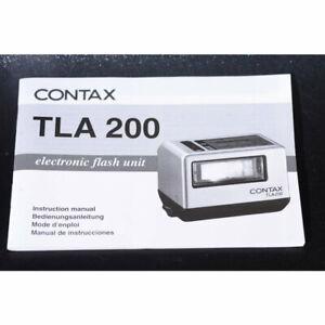 Contax TLA 200 Blitz Gebrauchsanweisung / Anleitung / Bedienungsanleitung in DE