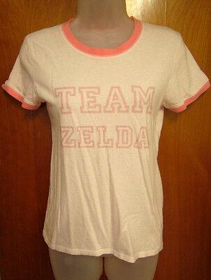 LEGEND OF ZELDA juniors small tee video game T shirt pink Nintendo collegiate