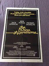The China Syndrome Movie Poster Michael Douglas Jack Lemmon Jane Fonda 1979
