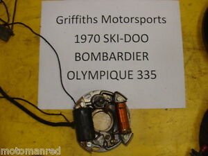 Details about 70 71 SKI DOO Bombardier Olympique 335 stator gen generator  points plate coil