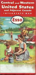 Details about 1958 ESSO Road Map CENTRAL + WESTERN UNITED STATES Route 66  California Texas