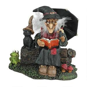Warty Nose Witch statue Halloween Decor Sculpture Enchanting Spell Figurine