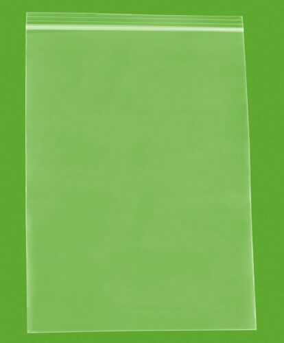 "500 Clear Reclosable Plastic Zip Lock Bags Resealable Zipper Bag 12/"" x 12/""4 Mil"