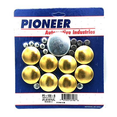 Pioneer PE100B Brass Freeze Plugs Plug Kit Chevy 283 305 327 350 383 5.0 5.7