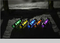 Tritium Gas Titanium Fluorescent Tubes Keychain Lifesaving Emergency Lights &b