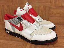 Vintage🔥 Nike Turf Pro Football Sky Hi Top Shoes Sz 11.5 White Red 1989 Men's
