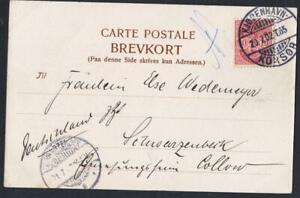 DANEMARK-OLD-POSTCARD-sea-obliteration-KJOBENHAVN-KORSOR-YEAR-1902