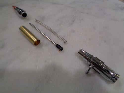 Mini 30 Caliber Bolt Action Bullet Pen Woodturning Kit Chrome