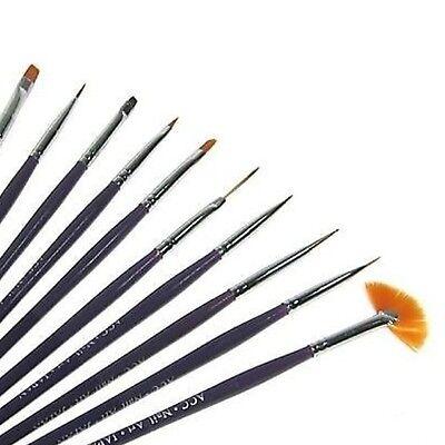 Nail Art 10er Pinsel Set, Nails, Nagelstudio, Nail Art