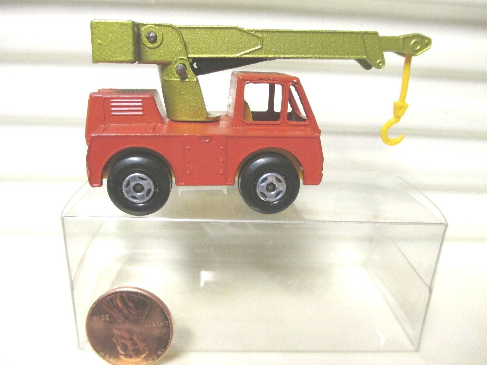 LESNEY MATCHBOX MB42A Orange rouge IRON FAIRY CRANE Lime Boom Yew + BLK base mintbxd