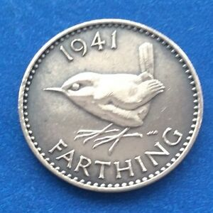1941 King George Vi Farthing Quarter Of A Penny Coin Ebay