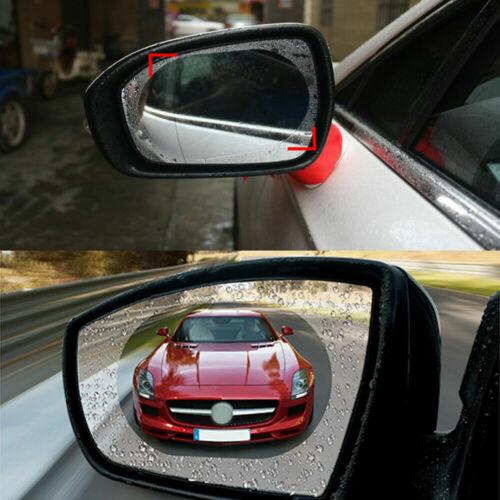 2Pcs Car Anti Water Mist Film Anti-Fog Rainproof Rearview Mirror Clear vision
