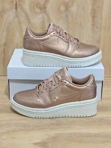 online retailer 5e688 e93fc Details about Nike Women's Air Jordan 1 Retro Low Lifted Metallic Bronze  [AO1334-901] Size 8