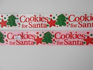 Image Is Loading Christmas Santa Co Es Ribbon 4 Hairbows Diy 1