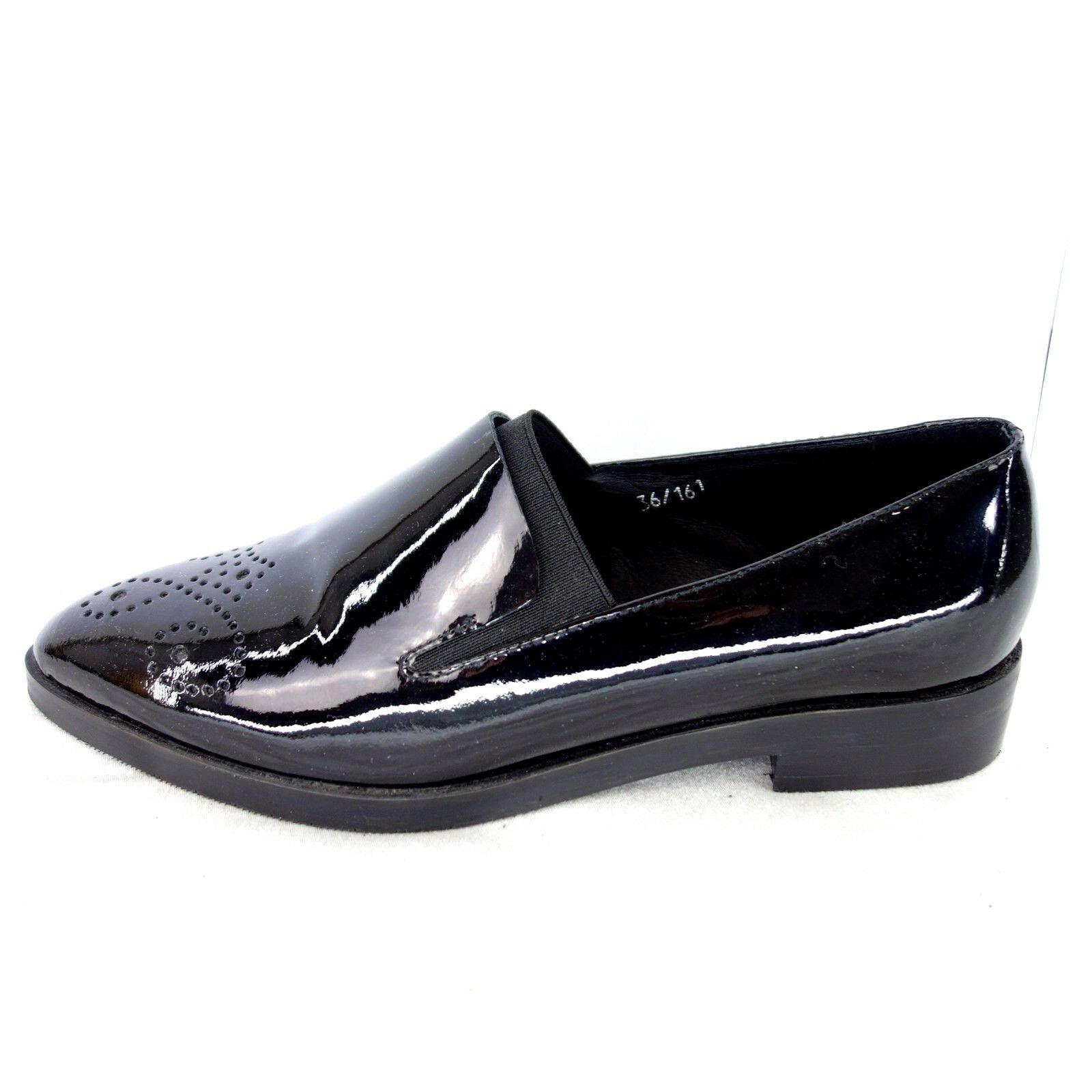 Bp Zone Ladies Loafers Low shoes Size 36 37 40 Black Patent Leather shoes Np 149