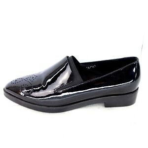Size Loafers 40 36 Zone Leather New Np Shoes Ladies Low 37 Bp 149 Black Patent qSXFc
