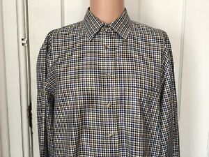 Jos-A-Bank-Shirt-Mens-Size-Large-Long-Sleeve-L-Travelers-Collection-Check