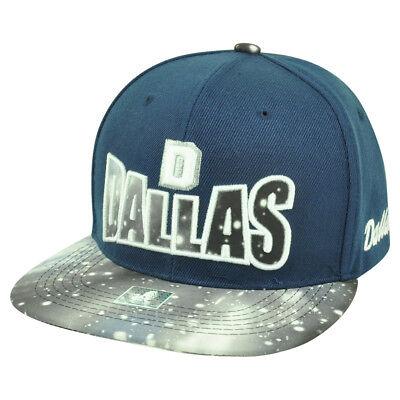 Baseball & Softball Weitere Ballsportarten Dallas Texas Tx Galactic Sublimiert Galaxy Flach Bill Marineblau Kappe