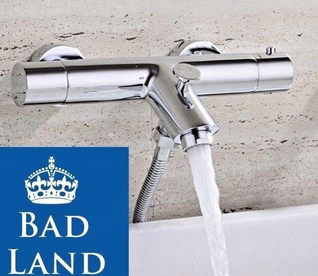 Duscharmatur Armatur Einhebelmischer Thermostat-Brausebatterie  CHROM BADEWANNE