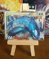 KYOGRE & GROUDON LEGEND Pokemon Trading Card Top Half Near Mint