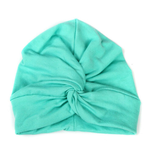 Fashion Girls Kids Solid Color Cotton Stretchy Turban Hat Hair Head Wrap Cap HOT