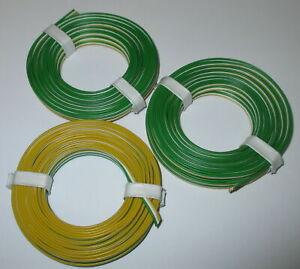 0-53-M-Triple-Braid-Wire-3x5m-Minitrix-Yellow-White-Green-New