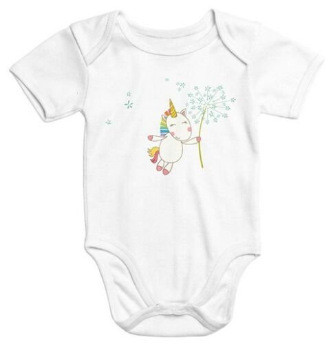 Baby Body Licorne avec Pusteblume Coton Biologique Manches Courtes Onesie Unicorn with