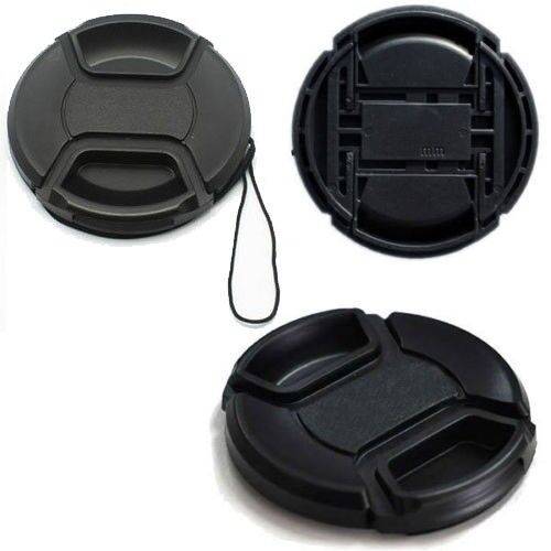 58mm Center-Pinch Snap-on Front Lens Cap Cover for Canon Nikon Sony DSLR Camera