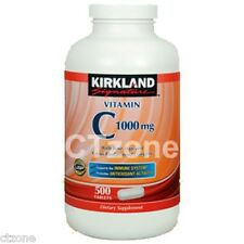 500 Kirkland Signature Vitamin C 1000 mg Rose Hips Citrus 500 Tablets