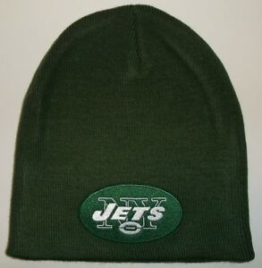 8ad80209 Details about New York Jets Knit Beanie Skull Cap Hat~GREEN~Helmet  Logo~NFL~FREE Shipping