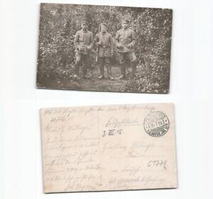 c1779-Foto-Ansichtskarte-Soldaten-1915-nach-Moosach-Grafing