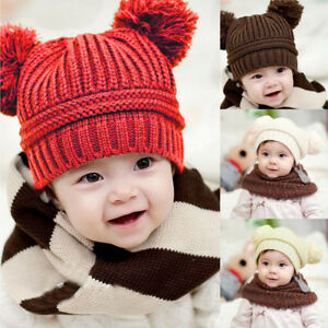7354cc69a8c4a Infant Newborn Baby Kids Girl Boy Warm Winter Knitted Cap Hat Beanie ...