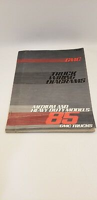 1985 GMC Truck Wiring Diagrams OEM service repair manual ...