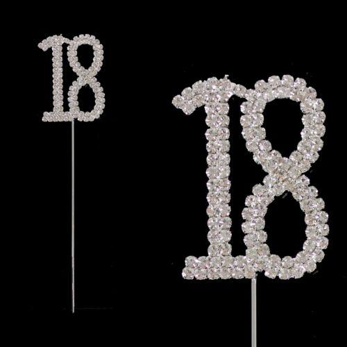 Choose Design Anniversary Number Cake Topper Silver /& Diamante Birthday