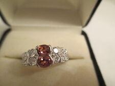 ESTATE Platinum Diamond & Pink Sapphire Ring  Dia=.75  VS1-F Pink Sapphire=.57
