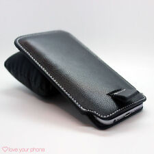 Genuine Leather Luxury Pull Tab Flip Pouch Sleeve Phone Case Cover✔Blackberry