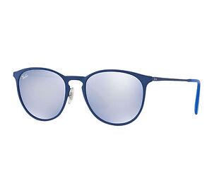 c9fe91eaac Ray-Ban Erika Metal RB 3539 90221u Rubber Electric Blue Sunglasses Grey  Flash