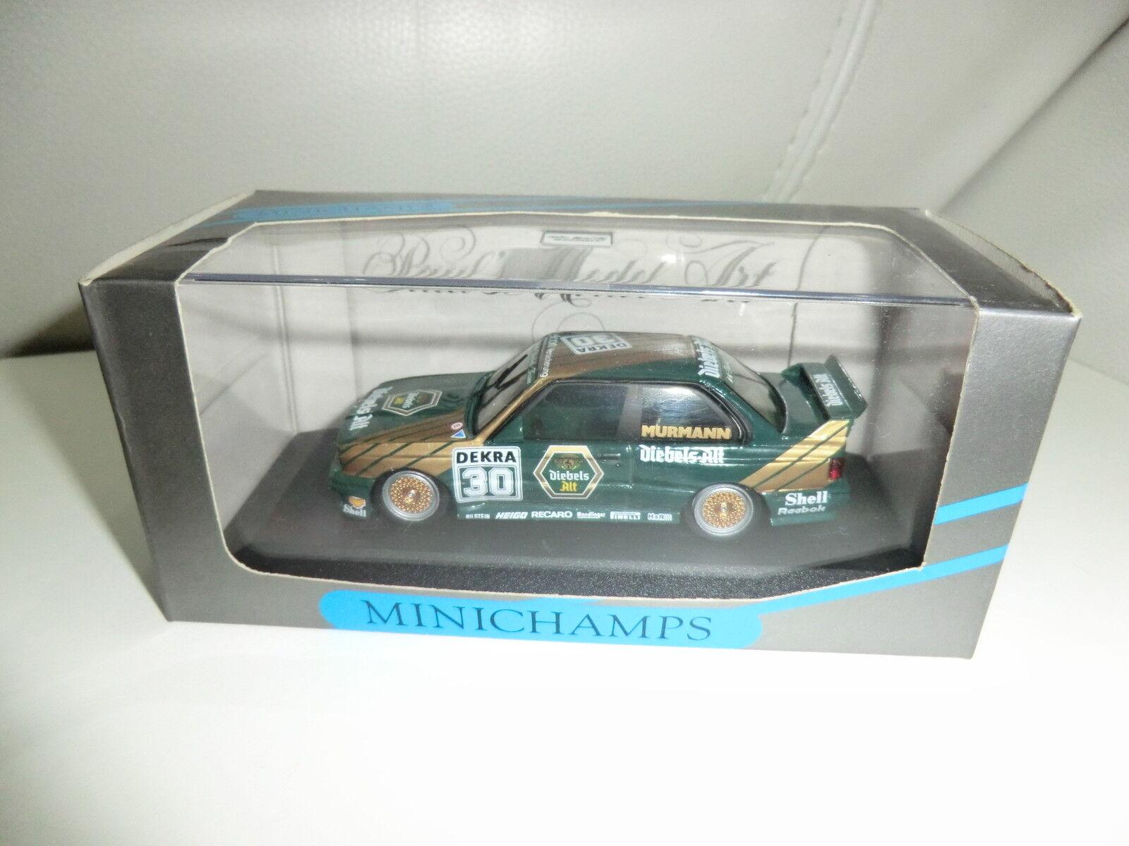 BMW m3 e30 1 43 DTM Diebels Alt  30 conducteur  Murmann MINICHAMPS Nouveau neuf dans sa boîte