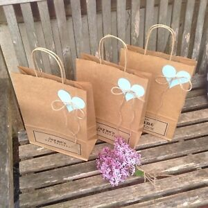 Image Is Loading Wedding Favour Bags Large A4 Personalised Kraft Paper