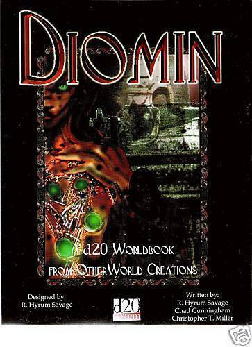 DIOMIN CAMPAIGN SETTING BOOK D20 VGC 3E 3.5E RPG D&D DUNGEON DRAGON WORLDBOOK