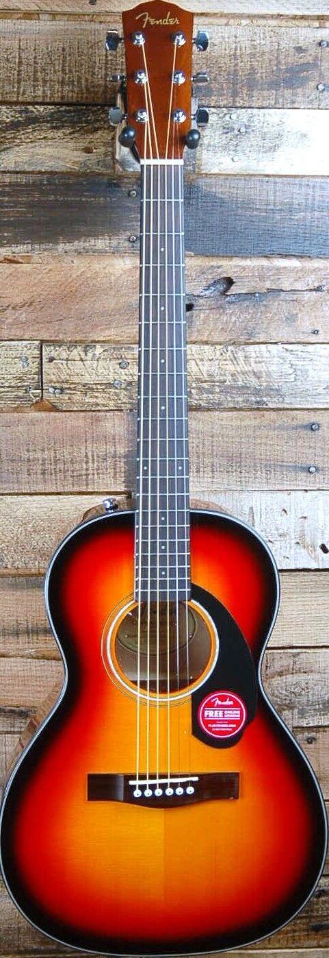 NEW    Fender CP-60S Parlor Acoustic Guitar, Sunburst Finish