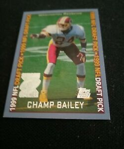 1999 Champ Bailey NFL Draft Pick Card #160 Mint  Washington Redskins