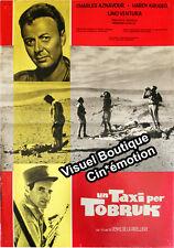 Affiche 47x67cm UN TAXI POUR TOBROUK /… PER TOBRUK 1961 Lino Ventura, Aznavour #