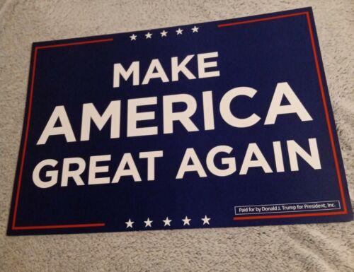 DONALD TRUMP Official Campaign Placard//Rally Sign MAGA 2020