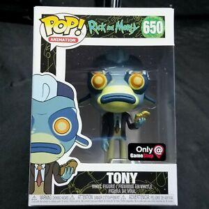 FUNKO Pop! Rick and Morty Tony GameStop Exclusive  #650 New Pop