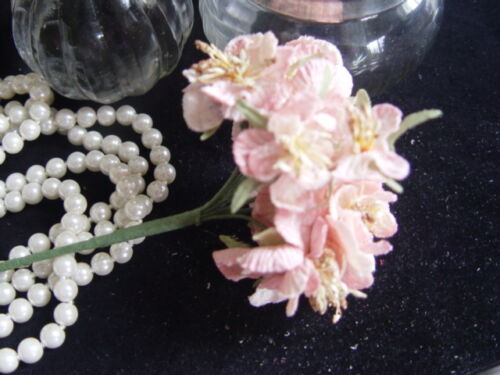 VELVET  PINK  BLOSSOM MILLINERY FLOWERS