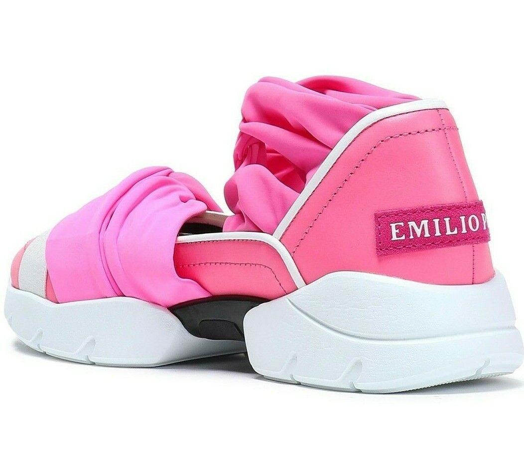 Emilio Pucci City  up Ruffle Trainers Slip -on scarpe da ginnastica Scarpe scarpe da ginnastica 36  outlet in vendita