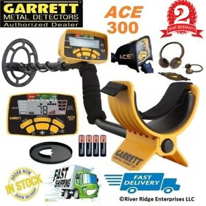 GARRETT-ACE-300-Metal-Detector-with-Headphones-Rain-Cover-Waterproof-Coil-NEW