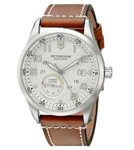 39d9a13027f Victorinox Swiss Army Men s 241576 AIRBOSS Automatic Leather Strap ...